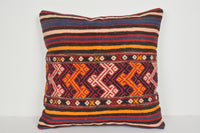 Doruk Kilim Pillows A00712 Pastel pillow case Big throw pillow cover 24x24