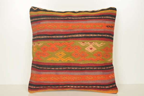 Kilim Pillow Canada C01612 18x18 Large Excellent Bright Cheap