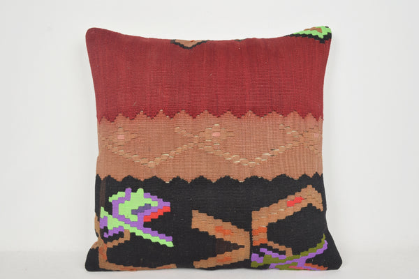 Handmade Kilim Pillows 24x24 A00012 Designer Neutral Luxury Navajo