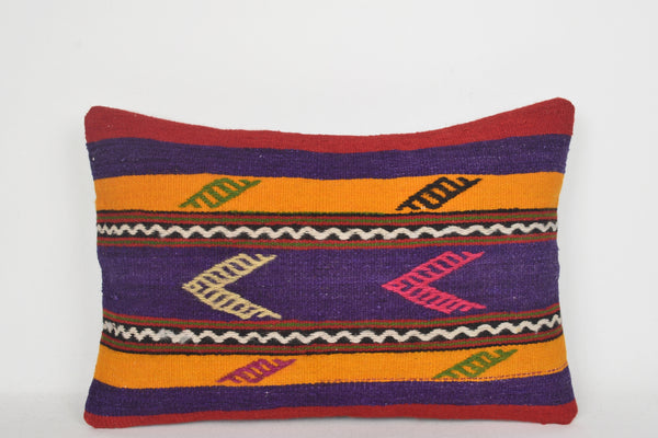 Kilim Lumbar Pillow Cover E00212 Floor Special Tribal Bedding