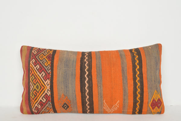 Brown Turkish Kilim Pillow Cover D00012 Authentic Bohemian