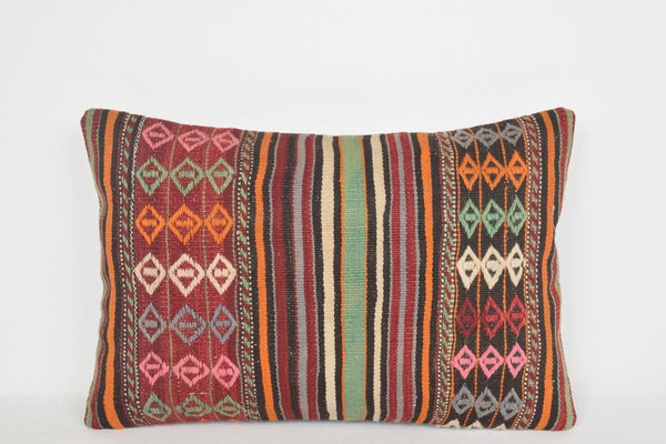 Kilim Pillow Toronto E00213 Lumbar Knitted Pouf Aztec Eclectic