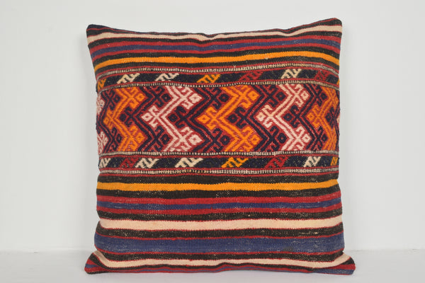 Inexpensive Kilim Pillow Covers A00713 24x24 Turkish Wool Northern