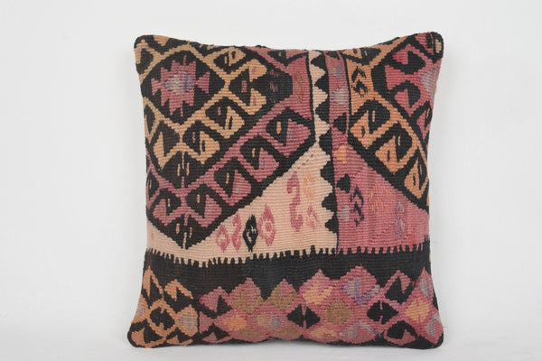 Pink Turkish Wholesale Kilim Rug Cushion Cover 18x18