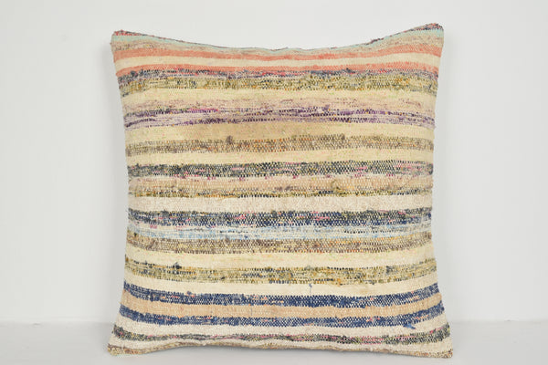 Kilim Cushion Gumtree A00714 24x24 Low-priced Handwoven Neutral