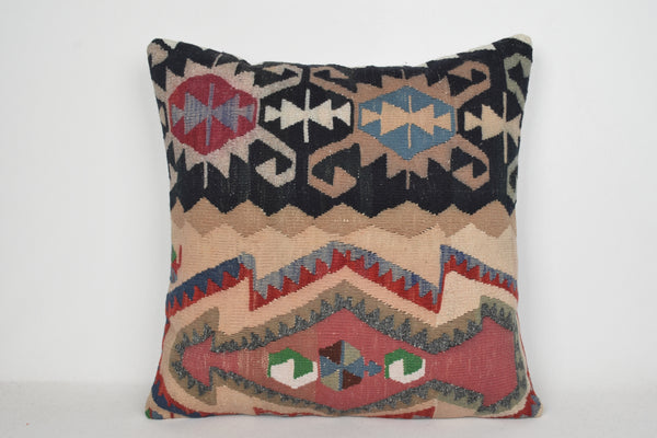 Giant Kilim Pillow A00114 24x24 Technical Seat Oriental Eastern Designer