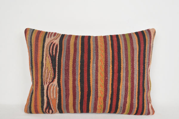 Turkish Rug Pillow E00215 Lumbar National Kitchen Kelim Wool