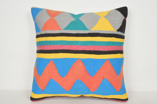 Turkish Cushion Ikat A00516 24x24 Western Tropical Navajo Excellent