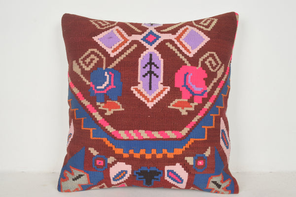 Turkish Chenille Cushions A00416 24x24 Folkloric Excellent Geographical