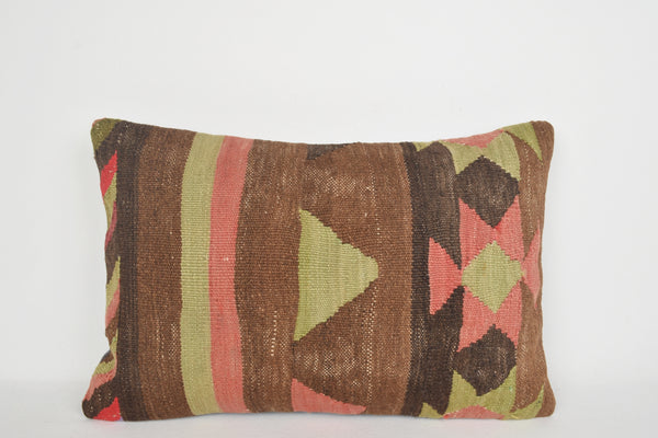 Zanzibar Kilim Cushion E00117 Lumbar Couch Primitive Fragment