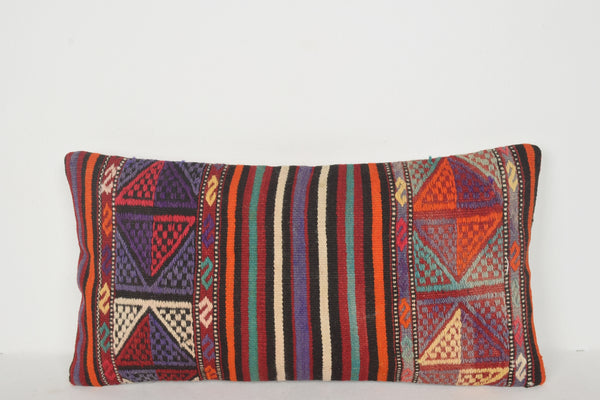 Afghan Kilim Rugs for Sale Pillow F01219 Lumbar Model Mid-century