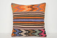 Neutral Kilim Pillow A00320 24x24 Free Shipping Folkloric Culture Native