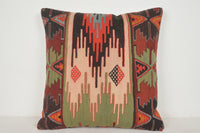 Amazon Kilim Pillow A00421 24x24 Comfortable Tribal Needlepoint