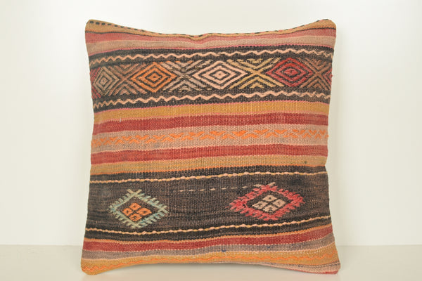 Kilim Pillows Turkey C01621 18x18 Prehistoric Room Economical Old