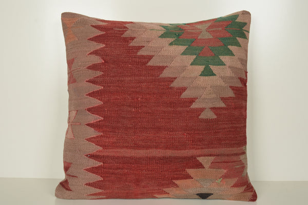 Kilim Pillow Covers Coral A00821 Economical throw pillow cover 24x24