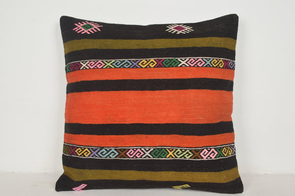 Kilim Pillow Covers Orange A00622 24x24 Southwest Modern Old