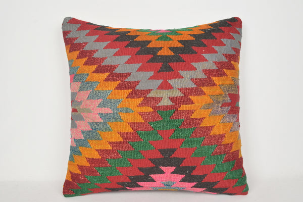 Modern Kilim Pillows 24x24 A00022 Professional Fabric Tapestry Seat