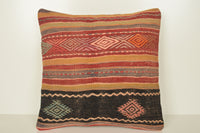 Kilim Cushion Turkey C01625 18x18 Fabric Euro Rare Casual Wholesale