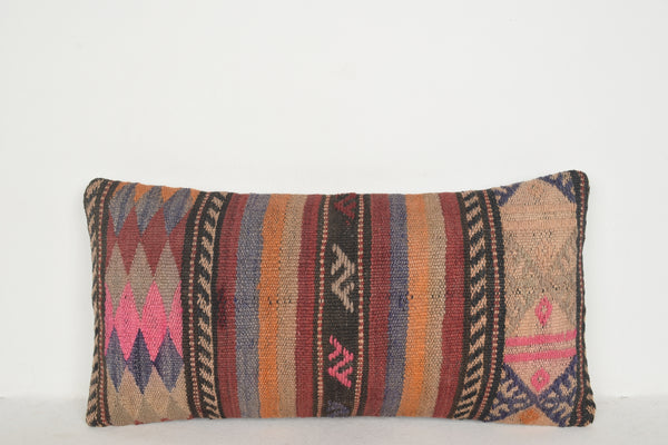 Vintage Kilim Pillows F00525 Lumbar Handwoven Best Embroidered
