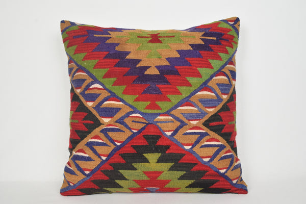 Kilim Pillow Living Room A00127 24x24 Substantial Neutral Needlepoint