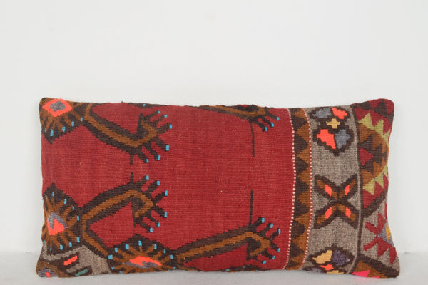 Rectangular Kilim Rugs Pillow F00428 Lumbar Couch Textile Special