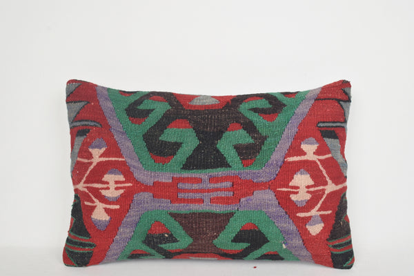 Kilim Rug Pillow Covers E00128 Lumbar Hand Woven Collection Western