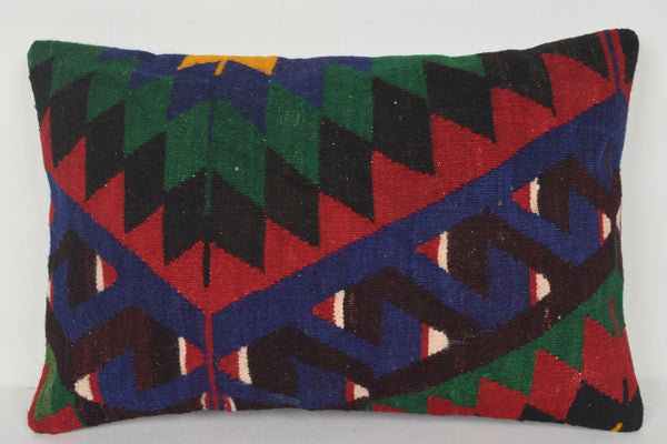 Etsy Turkish Kilim Pillows E00328 Lumbar Modular Folkloric Ethnic Boho