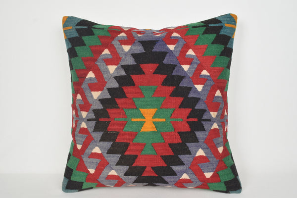 Kilim Style Pillow Covers A00128 24x24 Rustic Knit Society Floor