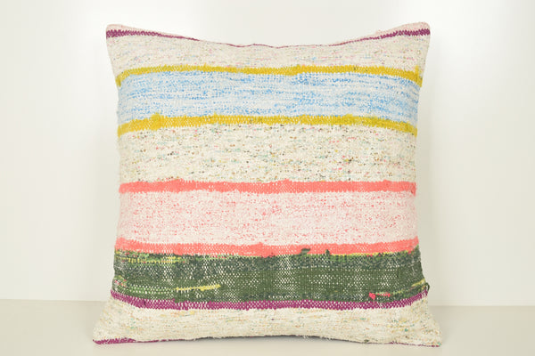 Kilim Sofa Pillows A00929 24x24 Regional Boho Rare Knitted