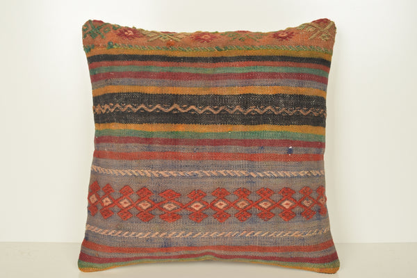 Kilim Pillow Covers 18x18, Overstock Kilim Pillows C01630, Floor pillows, Sofa pillows