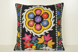 Uzbek Suzani Floor Pillow A01031 24x24 Embellishing Victorian Ornament