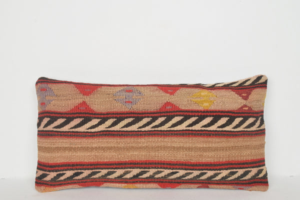 Kilim Rug Style Pillow F01233 Lumbar Traditional Knitted