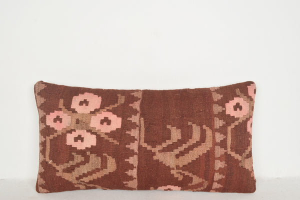 Kilim Rugs Los Angeles Pillow F00536 Lumbar Country Neutral Covering