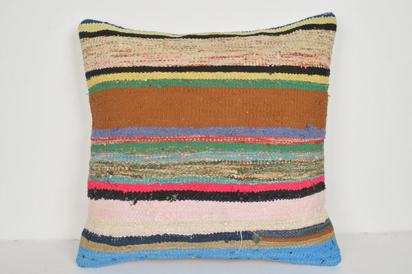Kilim Pillows UK A00736 24x24 Rug Sofa Midcentury Knitted Sham