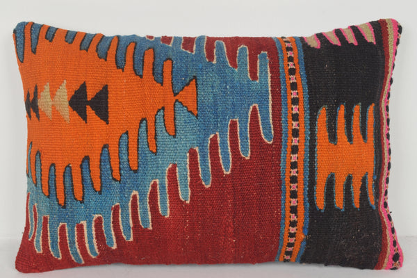 Kilim Lumbar Cushion E00437 Lumbar Cottage Urban Wall Covering Aztec