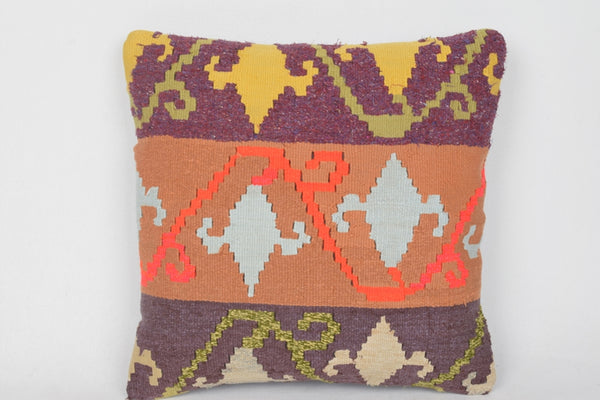 Handwoven Kilim Pillows Large D00037 Burlap Interior Folkloric Old