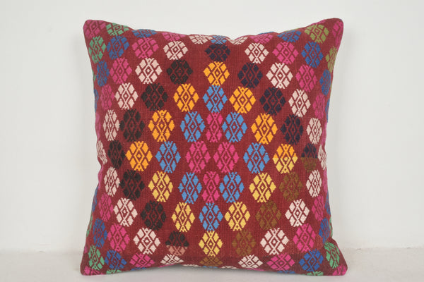 Kilim Cushions Turkey A00438 24x24 Rare Economical Kitchen Nursery