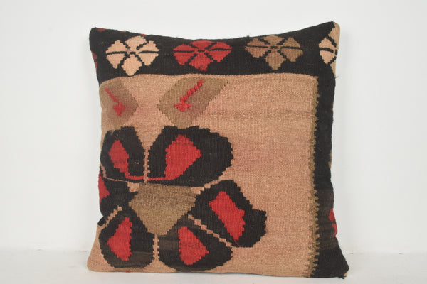 Etsy Turkish Kilim Pillows A00339 24x24 Art pillow cover Decorator pillow case