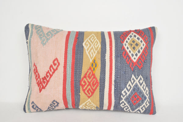 Kilim Cushion NZ E00139 Lumbar Tuscan Home Tapestry Homemade