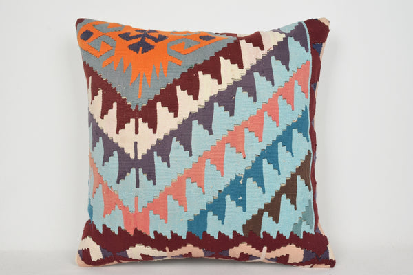 Kilim Pillow Diy A00040 24x24 Tapestry Wool Original Old Bright
