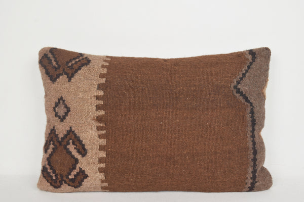 Kilim Tapestry Pillow E00041 Lumbar Decorative Flat Ethnic Tuscan