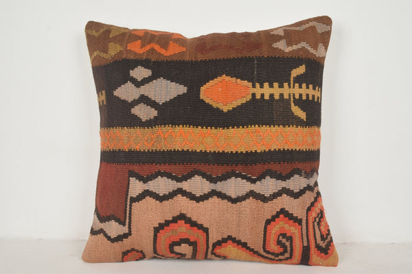 Kilim Floor Pillow A00442 24x24 Art Woolen Luxury Organic Tradition