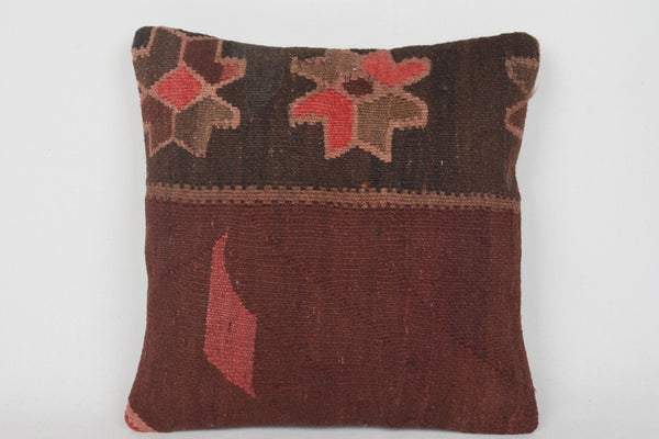 Brown Kilim Pillows Austin D00046 Hand crafted Hand knot Great
