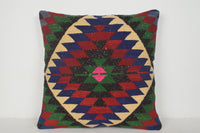Peach Kilim Pillow A00348 24x24 Southwestern pillow case Tapestry cushion covers