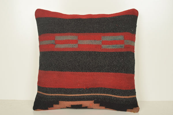 Prehistoric Turkish Handknit Kilim Bench Pillow Cover