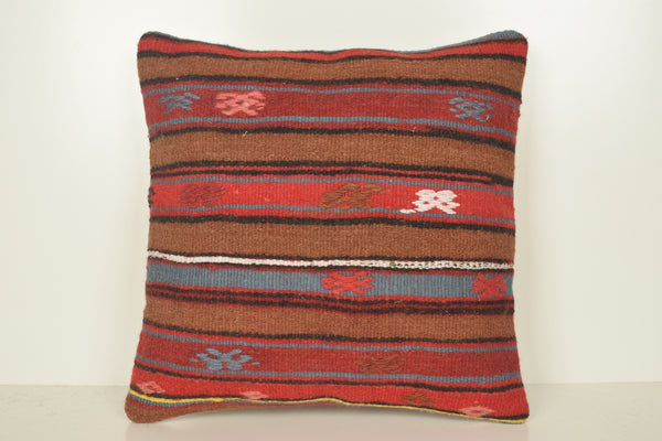 Kilim Cushions Wholesale C01650 18x18 Luxury Burlap Turkish Tribal