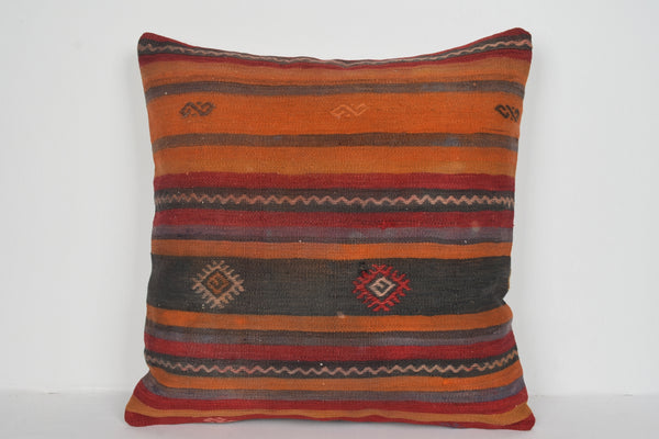 Turkish Patchwork Pillow A00751 24x24 Woven Kelim African Modernistic