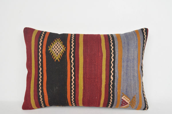 Kilim Floor Cushion UK E00152 Lumbar Moroccan Cool Vintage