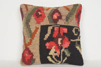 Tribal Kilim Rugs UK Pillow D01252 16x16 Social Embroidery Southwest
