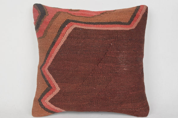 Flat Weaving Kilim Pillow Pastel Turkish Natural Folk Art Tapestry Hand Embroidery Rare Cover Knitting